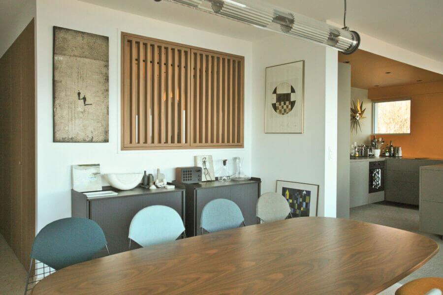 Salle à manger, claustra, cuisine